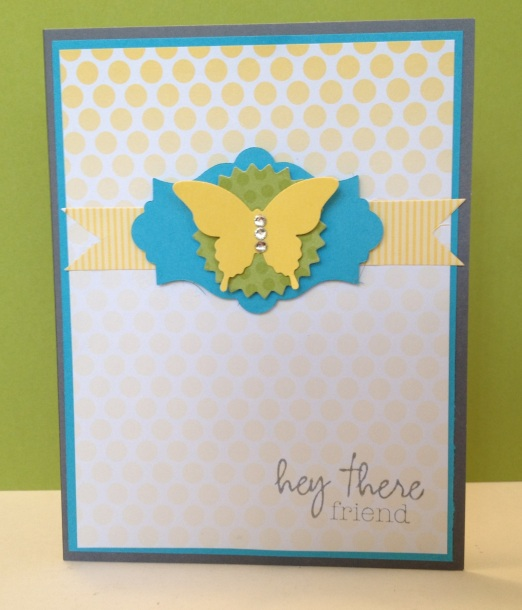 My Paper Pumpkin kit #1 with Tempting Turquoise and Daffodil Delight accents