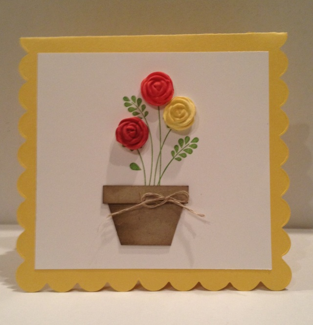 Easy Embellishments stamp set with clay flowers
