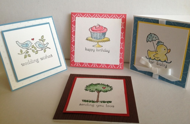 Stampin' Up Easy Events - perfect for 3x3 cards!