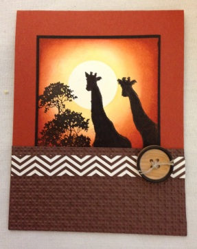 Stampin Up Zoo Review with images colored in