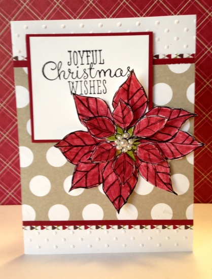 Stampin Up Joyful Christmas stamp set and Season of Style paper