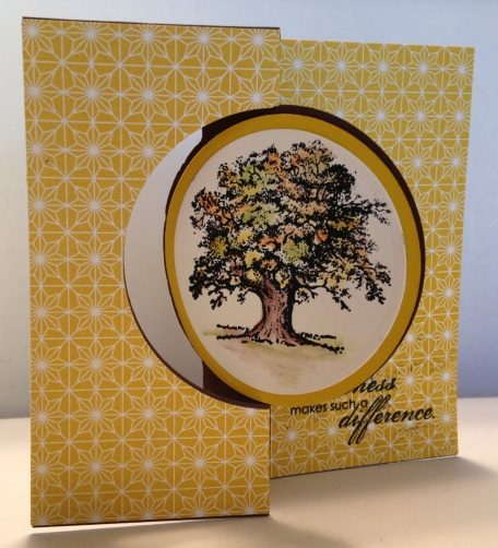 Flip card made with Stampin' Up Circle Flip Card Thinlets