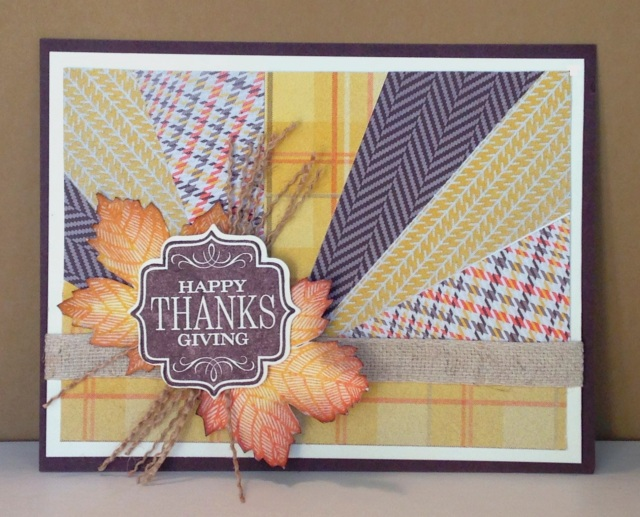 Iguanastamp: Sunburst card made with Stampin' Up Magnificent Maple and Tags 4 You