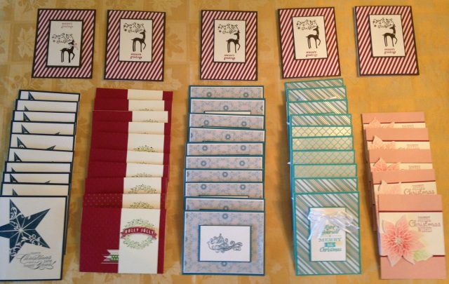 World Card Making Day - cards for the troops made with Stampin' Up stamps and papers