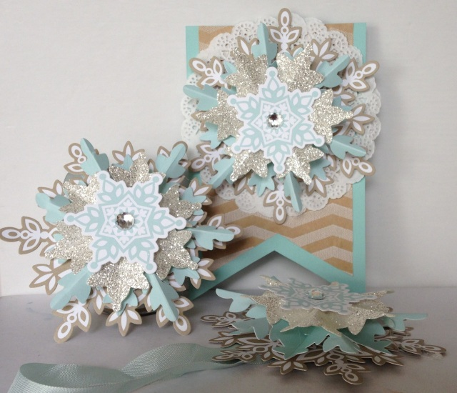 Stampin' Up Festive Flurries Ornament Kit