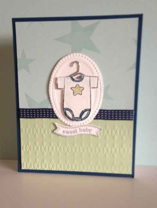 Iguanastamp! Card made with SU Baby Tees wheel, Simply Stars and Bitty Banner