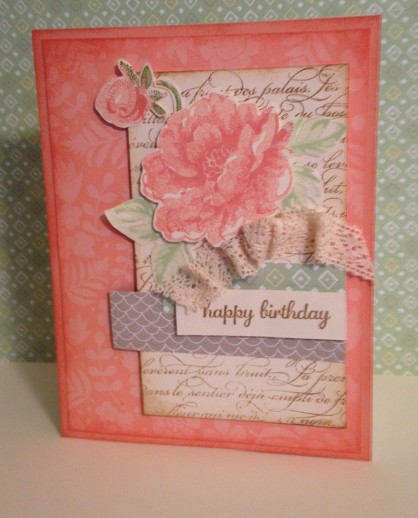 Iguanastamp! Birthday card using Sweet Sorbet papers and Stippled Blossoms