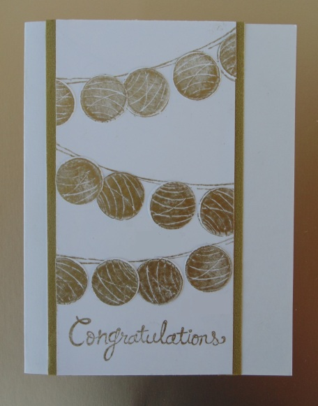 Stampin' Up Happy Congratulations