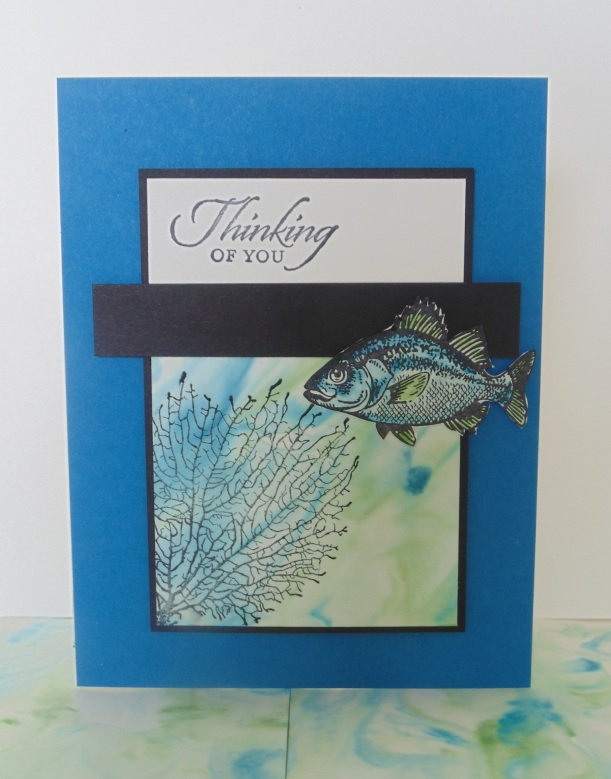 Iguanastamp! Stampin' Up By the Tide shaving cream background