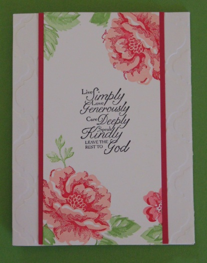 Iguanastamp! Stampin' Up! Stippled Blossom