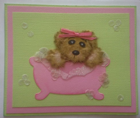 Iguanastamp! Tear Bear card