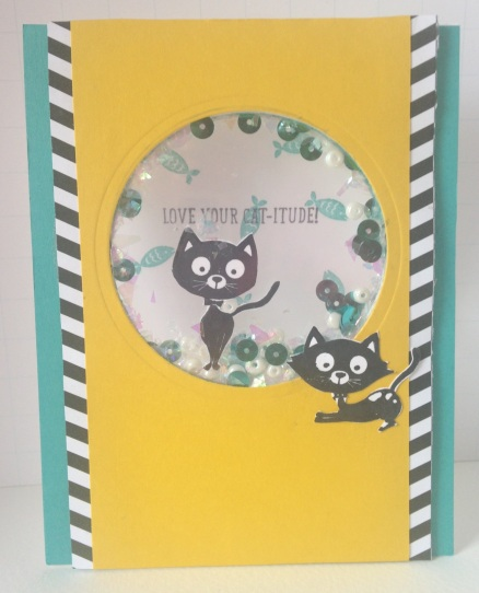 Iguanastamp! Stampin' Up You Little Furball shaker card